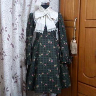 ヴィクトリアンメイデン(Victorian maiden)のメイデン・ヨークop・クロムグリーン(ひざ丈ワンピース)