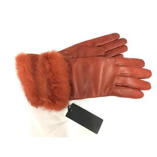 バーニーズニューヨーク(BARNEYS NEW YORK)の値下げ☺︎新品タグ付き バーニーズニューヨーク 手袋  赤 オレンジ(手袋)