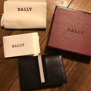 バリー(Bally)のBALLY 名刺入れ  TOBEL/290 BLACK CALF PLAIN(名刺入れ/定期入れ)