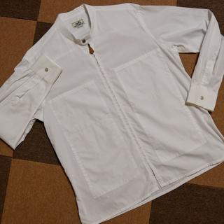 エルメス(Hermes)のエルメス セリエボタン付き ジップシャツ(その他)