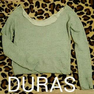 デュラス(DURAS)のDURAS♥スウェットトップスロンティー(トレーナー/スウェット)