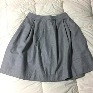 ノーブル(Noble)のスピックアンドスパン ノーブル グレー スカート ウール(ひざ丈スカート)
