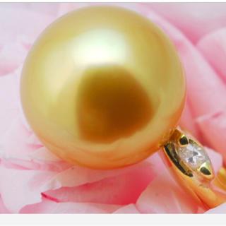 ホワイトデー 大粒綺麗K18 ゴールデンパールリング セール中(リング(指輪))