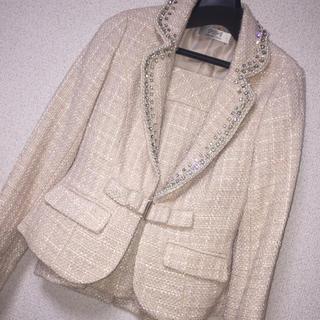 ジュエルズ(JEWELS)の新品未使用 タグ付き ピンク スーツ スカート(スーツ)