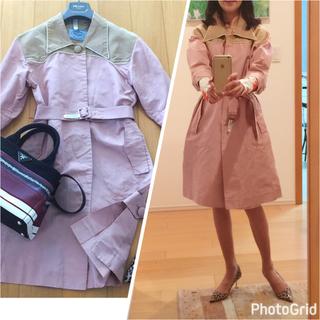 プラダ(PRADA)の大人気品♡プラダ桜ピンクシルク100%スプリングコート(スプリングコート)