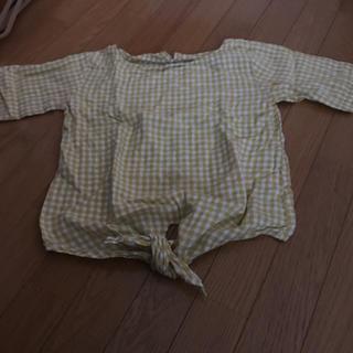 ジーユー(GU)のジーユー ギンガムブラウス(シャツ/ブラウス(半袖/袖なし))