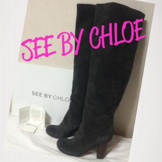 クロエ(Chloe)のセレブ未使用ビジュー付CHLOE(ブーツ)