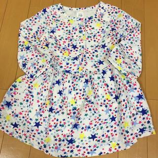ベビーギャップ(babyGAP)の定価4200円♡babyGap とっても可愛い 星柄ワンピース 90♡(ワンピース)
