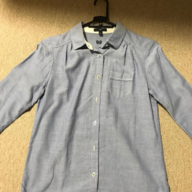 GAP(ギャップ)のGAP ギャップ 2度着用 シャツ レディース XXSサイズ ブルー  レディースのトップス(シャツ/ブラウス(長袖/七分))の商品写真
