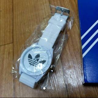 アディダス(adidas)のアディダスラバーウァッチ ブラック 腕時計(ラバーベルト)