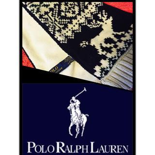 ポロラルフローレン(POLO RALPH LAUREN)の早い者勝ち!POLOラルフローレン☆ クリスマス ノリディック柄マフラー 送料込(マフラー/ストール)