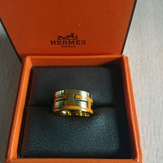 エルメス(Hermes)の週末限定!セールムーブアッシュ💍オレンジ×ゴールド(リング(指輪))