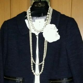 ランバンオンブルー(LANVIN en Bleu)のランバンオンブルー ネイビースーツお直あり(スーツ)