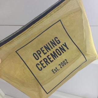 オープニングセレモニー(OPENING CEREMONY)のMAN0222さん専用    OPENING CEREMONY ゴールドポーチ(ポーチ)