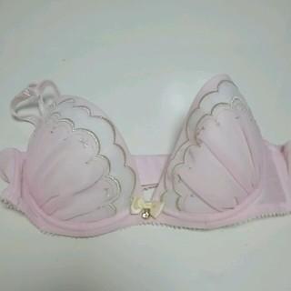 透け感ピンク ブラジャー&パンティーset C75 新品未使用(ブラ&ショーツセット)