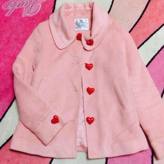 ピンク コート アウター