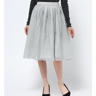 ミスティウーマン(mysty woman)の3月17日まで ミスティーウーマン チュールスカート(ひざ丈スカート)