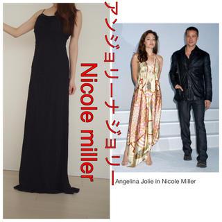 ドルチェアンドガッバーナ(DOLCE&GABBANA)のセレブ 愛用 高級 ブランド ロング シルク ドレス Nicole miller(ロングワンピース/マキシワンピース)