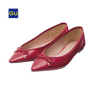 ジーユー(GU)の即日発送 XL 新品タグ付き ジーユー バレエシューズ 赤 レッド XL(バレエシューズ)