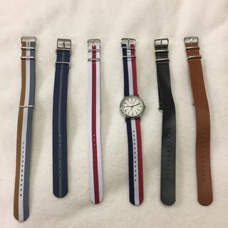 タイメックス(TIMEX)の【美品】TIMEXの時計、ベルト×6(腕時計(アナログ))