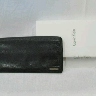カルバンクライン(Calvin Klein)のカルバンクライン 牛革 長財布 黒 79219(長財布)