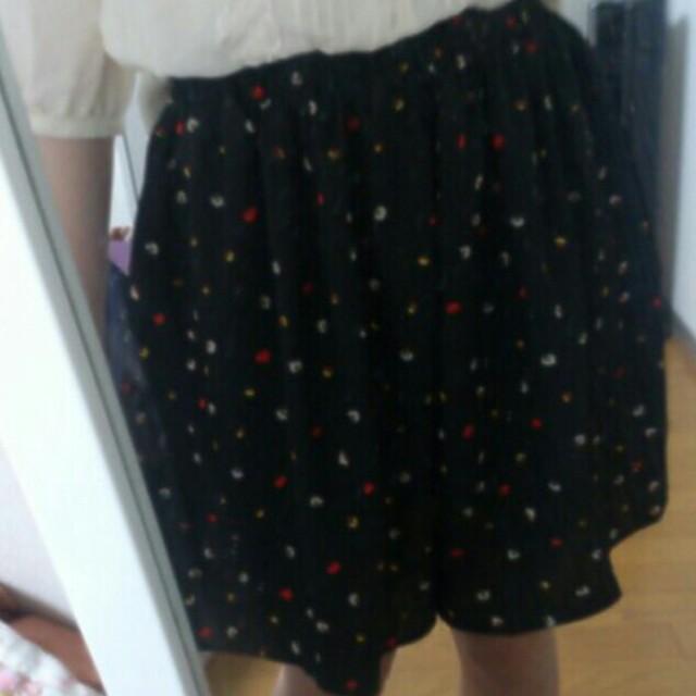 mystic(ミスティック)のミスティック♡黒スカート風 レディースのパンツ(キュロット)の商品写真