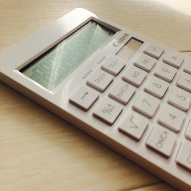 Canon(キヤノン)の電卓 canon 白 ホワイト スタイリッシュ 無印風デザイン ハンドメイドの文具