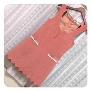 ユメテンボウ(夢展望)の裾スカラップワンピ☻(ひざ丈ワンピース)