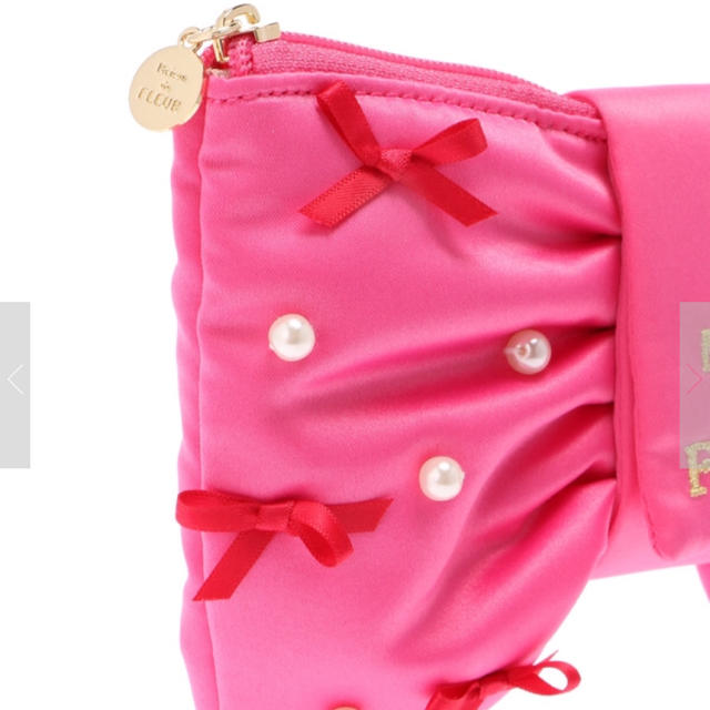Maison de FLEUR(メゾンドフルール)の新品 ピンクマニア リボンポーチ レディースのファッション小物(ポーチ)の商品写真