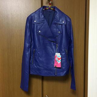 ユニクロ(UNIQLO)のUNIQLO×TOKYO GIRLS COLLECTION レザーライダースJK(ライダースジャケット)