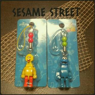 セサミストリート(SESAME STREET)の[新品]SESAME STREET レゴ風ブロックストラップ 2点セット(ストラップ/イヤホンジャック)