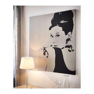 イケア(IKEA)の【IKEA 】 PJATTERYD アート, オードリー・ヘプバーン(ボードキャンバス)