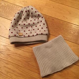ムジルシリョウヒン(MUJI (無印良品))の未使用‼︎無印ベビーニット帽子とネックウォーマーセット(帽子)
