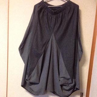 アンティカ(antiqua)のワイドパンツ風変形スカート(ロングスカート)