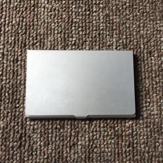 ムジルシリョウヒン(MUJI (無印良品))の無印MUJI アルミ 名刺入れ カードケース(名刺入れ/定期入れ)