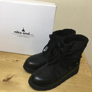 ニコアンド(niko and...)のニコアンド niko and… スノーブーツ 黒(ブーツ)