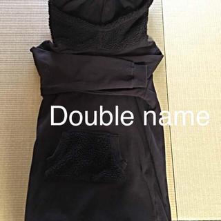 ダブルネーム(DOUBLE NAME)の値下げ 美品 ダブルネーム 美品  長め パーカー スウェット 定価12000(パーカー)