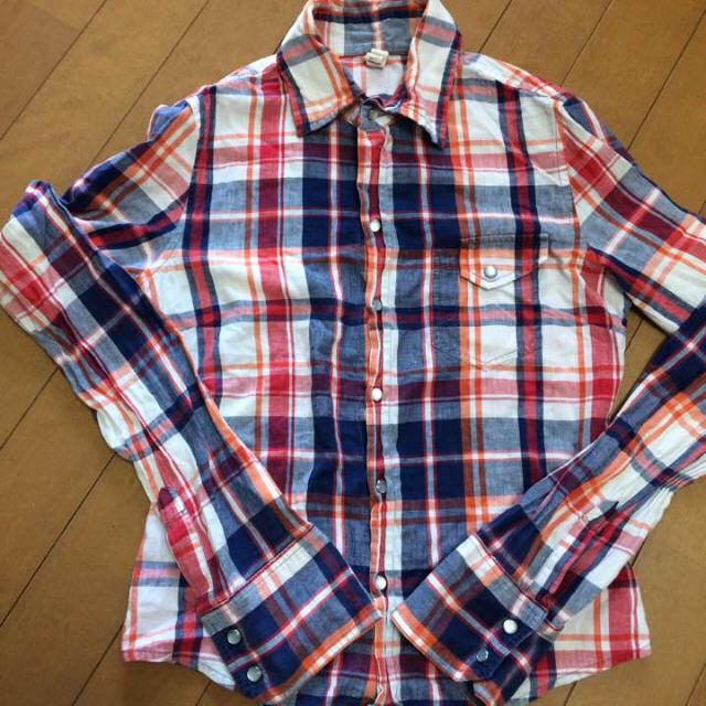 Solberry(ソルベリー)のsolberry コットンチェックシャツ 薄手 レディースのトップス(シャツ/ブラウス(長袖/七分))の商品写真