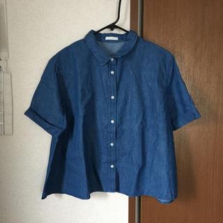 ジーユー(GU)のデニムシャツ(シャツ/ブラウス(半袖/袖なし))