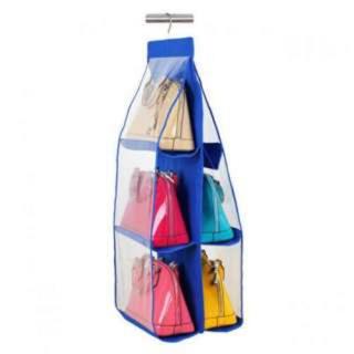 ☺︎様専用 2個セット 【ブルー】吊り下げ 収納 バッグ バック クローゼット(キッチン収納)