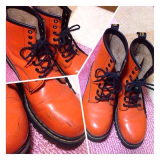 ドクターマーチン(Dr.Martens)のDr.Martens 8ホール オレンジ(ローファー/革靴)