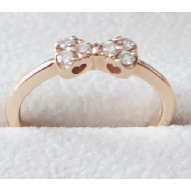 PonteVecchio(ポンテヴェキオ)のK18♡ダイヤリボンリング レディースのアクセサリー(リング(指輪))の商品写真