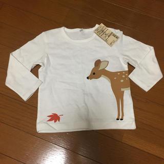 ムジルシリョウヒン(MUJI (無印良品))の無印良品 ロンT 長袖 Tシャツ 鹿 シカ 90(Tシャツ/カットソー)