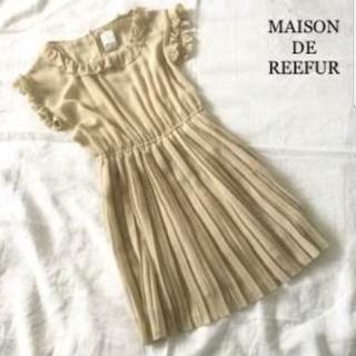 メゾンドリーファー(Maison de Reefur)の【90%オフ‼️】定価3万6千!メゾンドリーファー ドットプリーツワンピース(ミニワンピース)