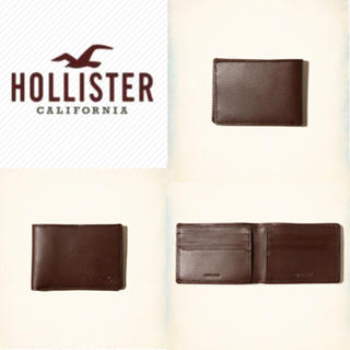 ホリスター(Hollister)のレア!新品 ホリスター サイフ 二つ折り財布 本革 オールレザー 送料無料(折り財布)