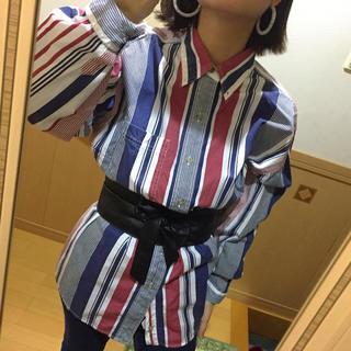 used ボーダーシャツ メンズ物 JEEP