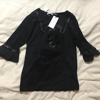 トゥエンティーミリオンフラッグメンツ(20,000,000 fragments)の20,000,000fragments黒トップス(Tシャツ(長袖/七分))