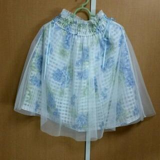 リズリサ(LIZ LISA)のリズリサ 花柄スカート シフォン(ひざ丈スカート)