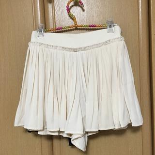 ローリーズファーム(LOWRYS FARM)のローリーズファーム  プリーツ  キュロットミニスカート オフホワイト(ミニスカート)