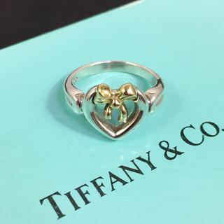 ティファニー(Tiffany & Co.)の美品 ティファニー Tiffany ハート リボン リング 指輪 6号レディース(リング(指輪))